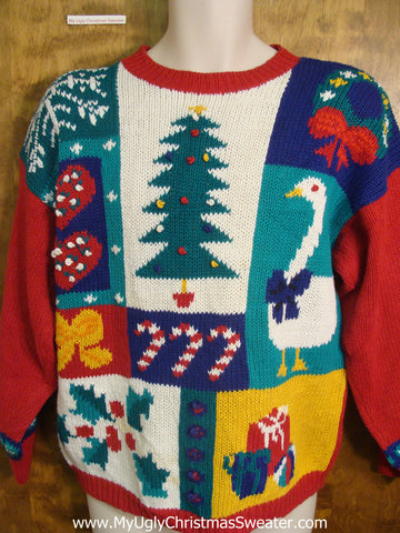 80s Christmas Favorites and Decorations Tacky Xmas Sweater
