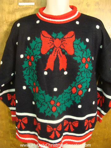 Christmas Wreath Tacky Xmas Sweater