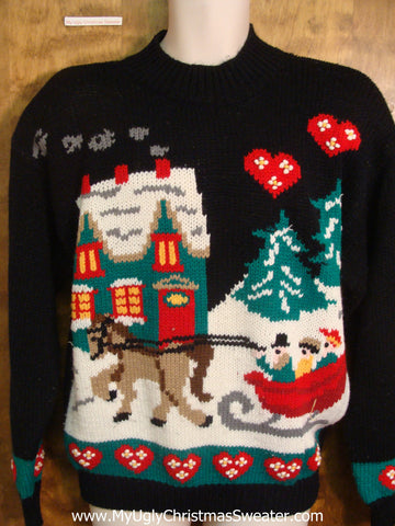 Dashing Through the Snow Tacky Xmas Sweater