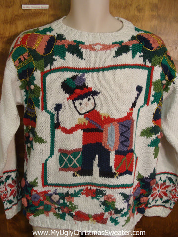 Drummer Boy 80s Classic Tacky Xmas Sweater