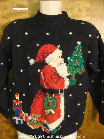 Santa Bringing Presents Tacky Xmas Sweater