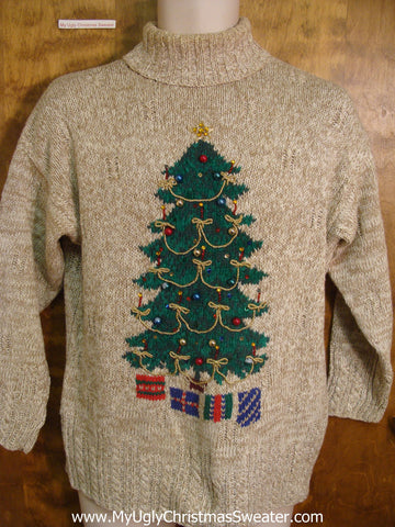 Festive Bling Christmas Tree Tacky Xmas Sweater