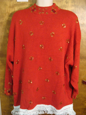 Red Bling Christmas Sweater