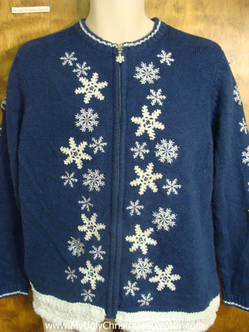 Classic White Snowflakes Christmas Sweater