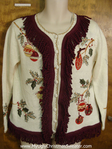 Cute Christmas Sweater with Amazing Fringe