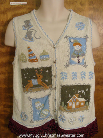 Winter Games Cute Christmas Sweater Vest
