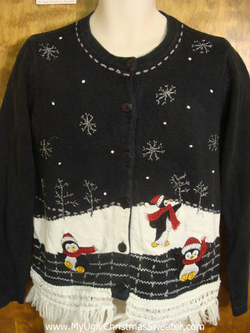 Happy Christmas Penguins Cute Christmas Sweater