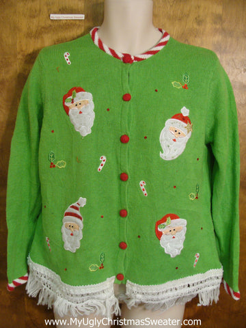 Lime Green Cute Christmas Sweater