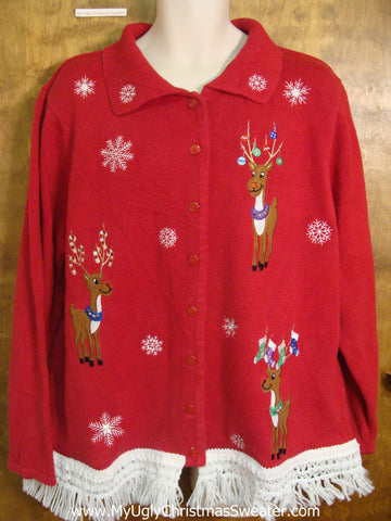 Cute Christmas Sweater with Reindeer