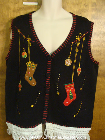 Christmas Stockings and Ornaments Cute Christmas Sweater Vest