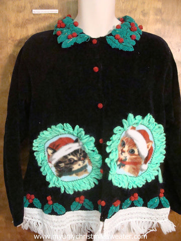 Horrible Holly Christmas Cat Ugly Sweater