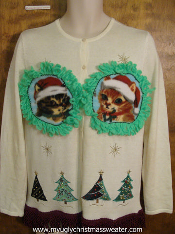 Santa Christmas Cat Ugly Sweater