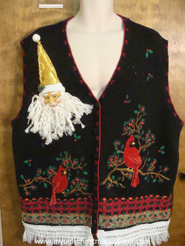 Christmas Robins Ugly Christmas Sweater Vest