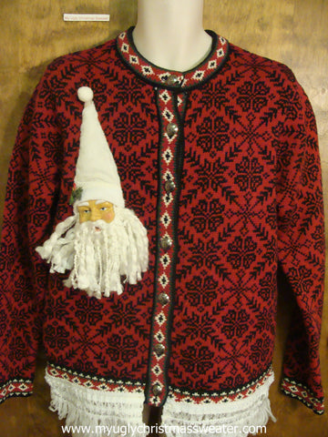 Red and Black Nordic Ugly Christmas Sweater