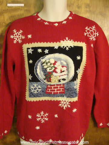 Santa Snowflobe Cute Christmas Sweater