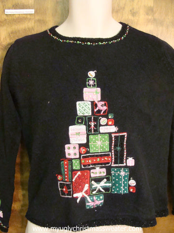 Present Xmas Tree Cute Christmas Sweater
