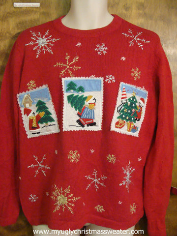 Cutting Christmas Trees Cute Christmas Sweater