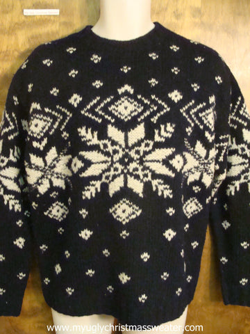 Black and White Nordic Cute Christmas Sweater