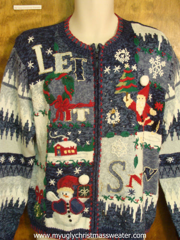 Fun Let It Snow Cute Christmas Sweater