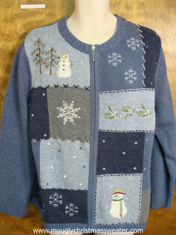 Blue Cute Christmas Sweater