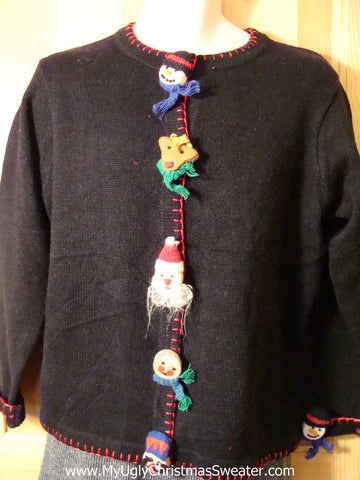 Tacky Cheap Ugly Christmas Sweater (f643)