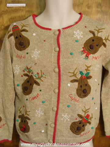 Santa's Reindeer Cute Christmas Sweater