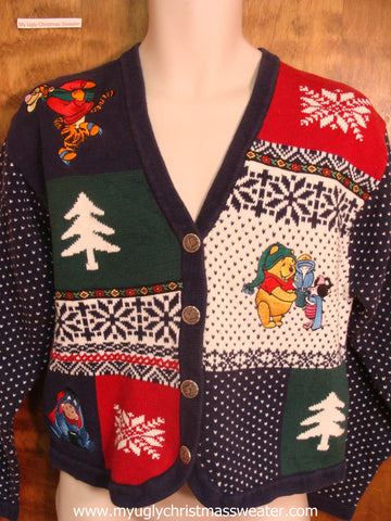 Pooh Bear and Friends Cute Christmas Sweater