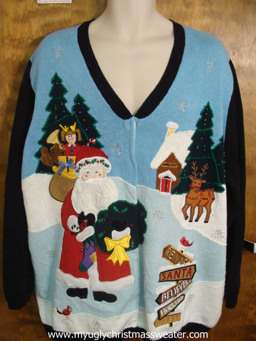 Santa with Presents Cute Christmas Sweater