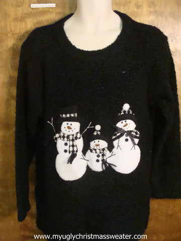 Snowman Family Cute Christmas Sweater