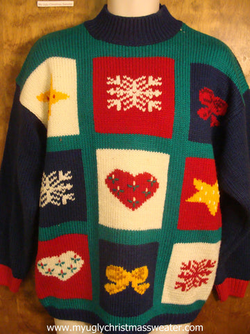 Patchwork Pullover Cute Christmas Sweater
