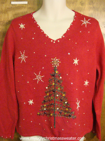 Bling Xmas Tree Cute Christmas Sweater