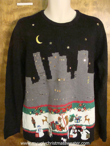 City Christmas Party Cute Christmas Sweater