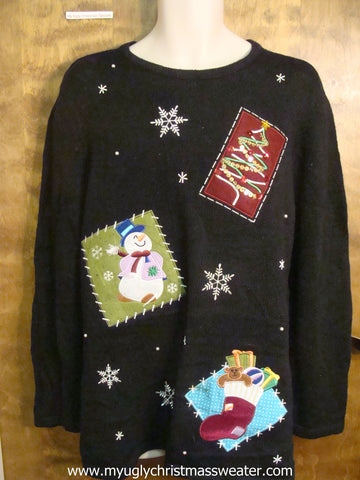 Happy Snowman Cute Christmas Sweater