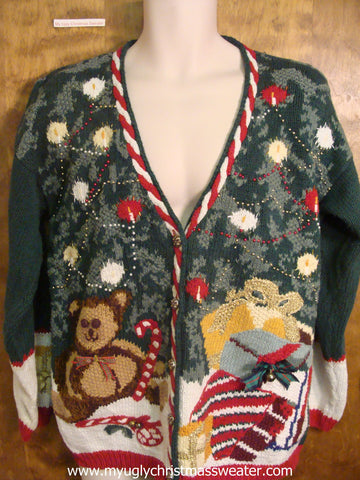 Teddy Bear and Tree Cute Christmas Sweater