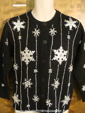Classic Bling Snowflakes Cute Christmas Sweater