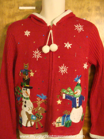 80s Holiday Friends Christmas Party Sweater Hoody