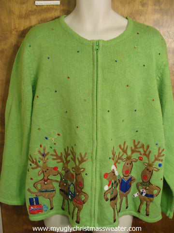 Reindeer Party Christmas Party Sweater