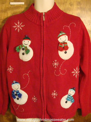 Jolly Winter Snowmen Christmas Party Sweater