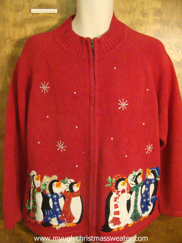Cozy Penguins Christmas Party Sweater