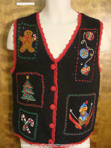 Christmas Friends Celebrating Christmas Party Sweater Vest