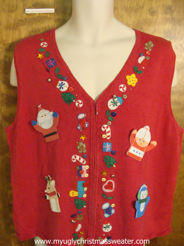 Mr. and Mrs. Claus Christmas Party Sweater Vest