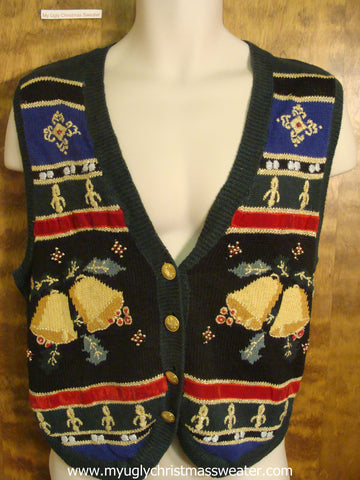 Christmas Bells Ringing Christmas Party Sweater Vest