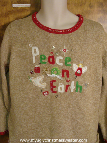Peace On Earth Christmas Party Sweater