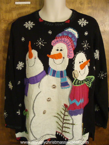 Festive Snowmen Christmas Party Sweater