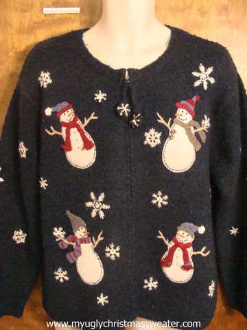 Fun Snowmen Partying Christmas Party Sweater