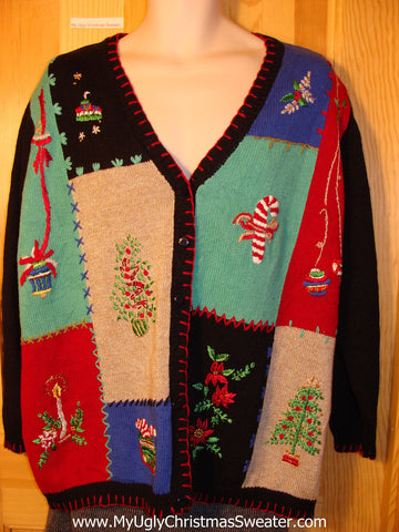Tacky Horrid Ugly Christmas Sweater in a Great Size for Men or Women (f654)
