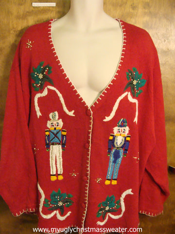 Holly and Nutcrackers Christmas Party Sweater