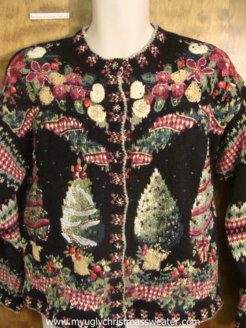 80s Horrible Xmas Tree Christmas Party Sweater