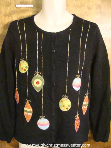 Colorful Hanging Ornaments Christmas Party Sweater