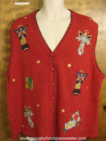 Xmas Angels Christmas Party Sweater Vest